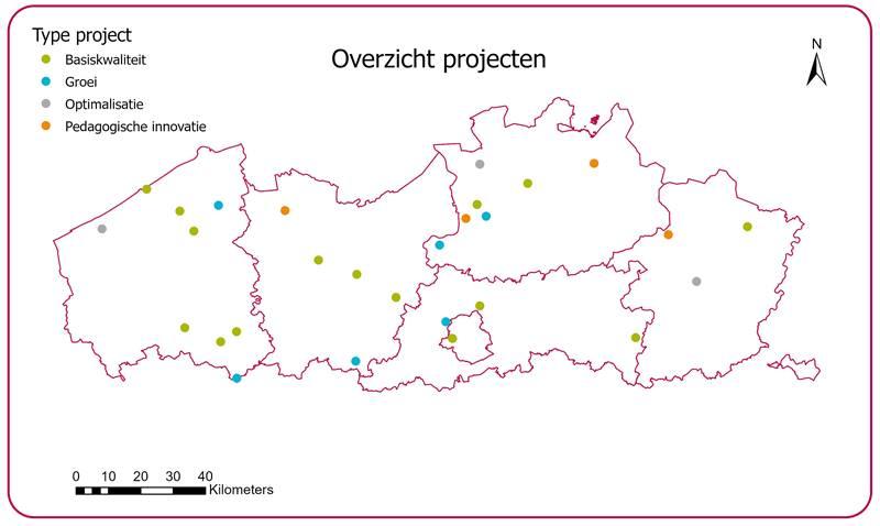 Kaart Infrastructuurinvesteringen GO Heel Vlaanderen